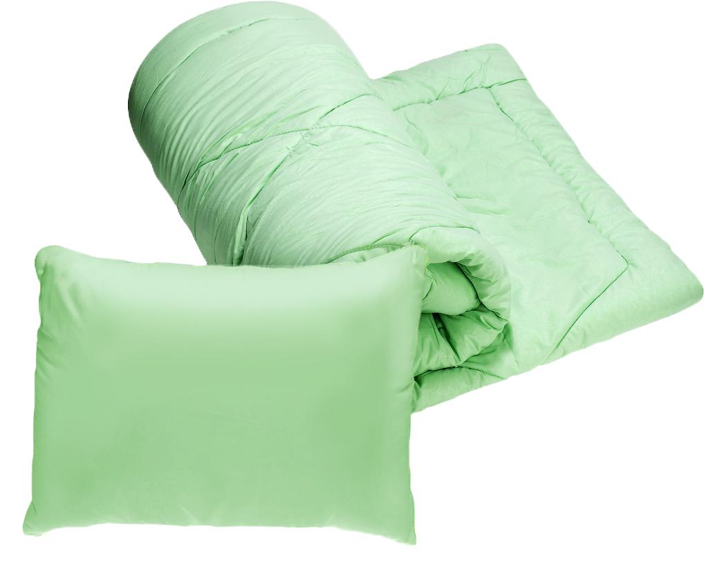 Комплект для спальни Эко 2 в 1: одеяло, подушка 50 х 70 смS03301004Практичное решение для дачи - набор 2 в 1: легкое 1,5 спальное одеяло (чехол микрофибра, наполнитель силиконизированное волокно) и подушка 50х70 (чехол микрофибра, наполнитель силиконизированное волокно). УВАЖАЕМЫЕ КЛИЕНТЫ! Обращаем ваше внимание, что товар поставляется в цветовом ассортименте. Поставка осуществляется в зависимости от наличия на складе.