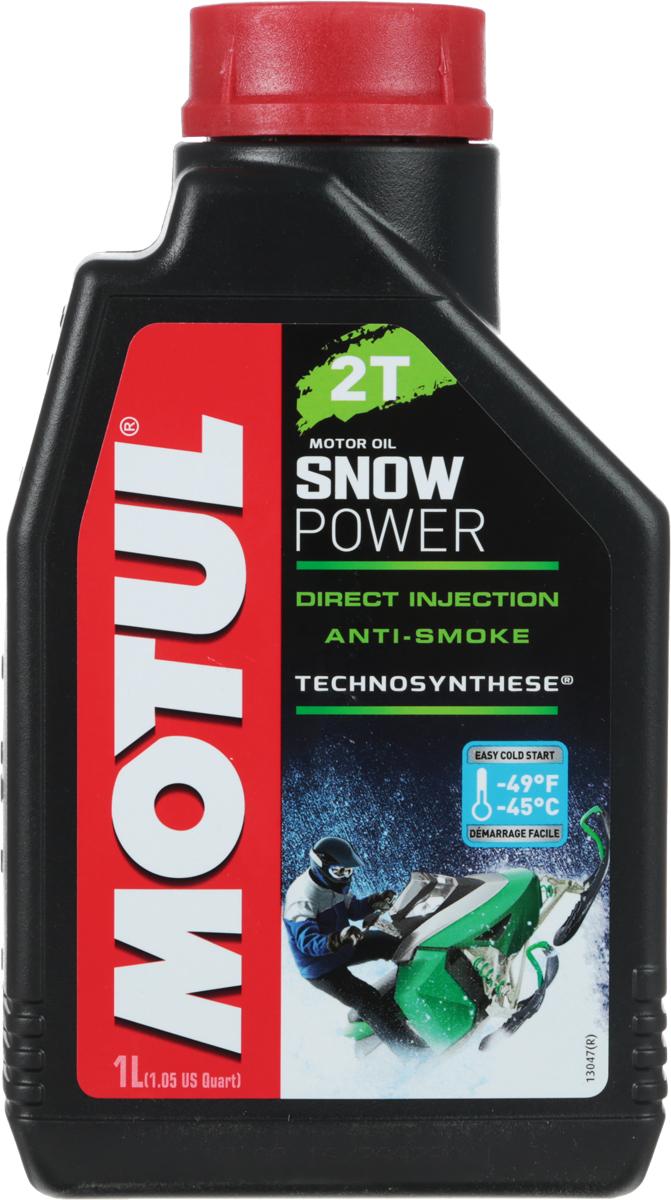 Масло моторное Motul Snowpower 2T. Technosynthese, синтетическое, 1 л10503Специальная формула масла снижает дымность выхлопа. Предназначено специально для 2-х тактных двигателей снегоходов, которые используются в полярных условиях. Все типы 2-х тактных двигателей с раздельной и смешанной смазкой. Все типы применения, в том числе и соревнования.