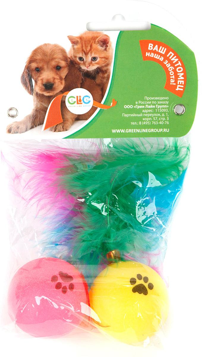 Игрушка для кошек GLG Мячик с перьями, гремящий, 2 шт0120710Игрушка представляет собой мячик с прикрепленными к нему перьями. Игрушка будет поддерживать вашу кошку в отличной спортивной форме и не даст ей засидеться.Предназначена для активных игр с кошкой.Диаметр мячика: 4 см.В наборе 2 игрушки.