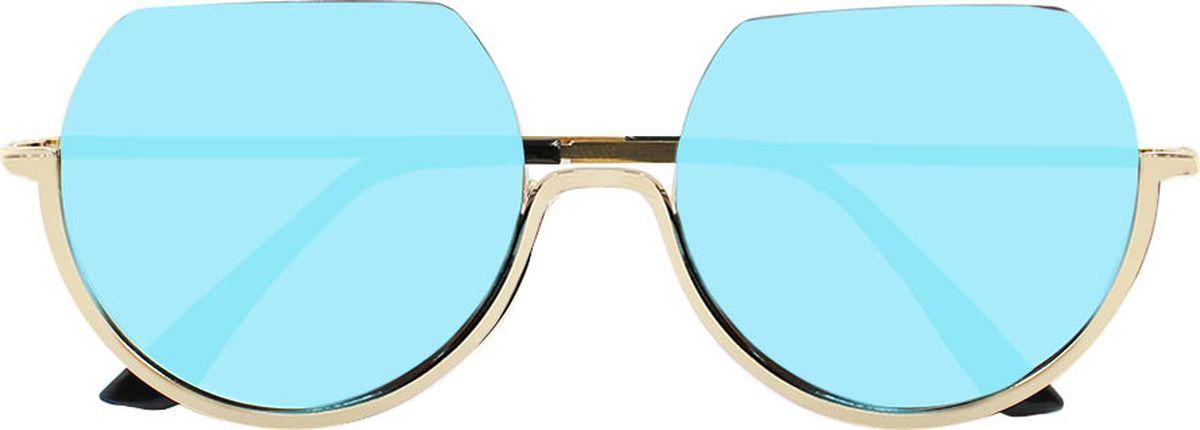 Очки солнцезащитные женские Taya, цвет: черный, золотистый. S-O-0016BM8434-58AEСтильные солнцезащитные круглые очки, обрезанные сверху, Taya с зеркальными линзами прекрасно подходят для повседневной носки и отдыха. Очки с высокоэффективным ультрафиолетовым фильтром защитят ваши глаза от ультрафиолета, повреждений и ярких солнечных лучей. Очки Taya – это эффектный аксессуар, который станет изюминкой вашего индивидуального стиля.Категория: 2. Пропускают 18-43% света.