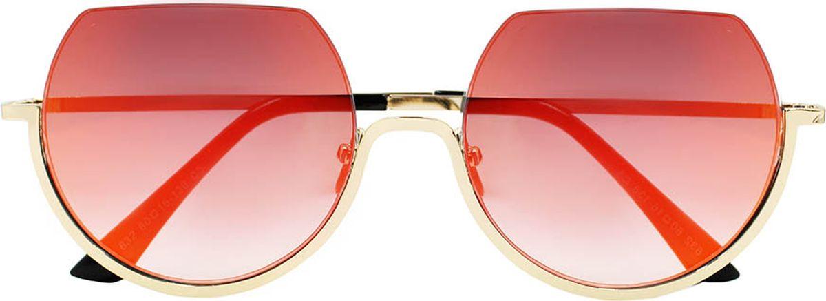 Очки солнцезащитные женские Taya, цвет: черный, золотистый. S-O-0017BM8434-58AEСтильные солнцезащитные круглые очки, обрезанные сверху, Taya с зеркальными линзами прекрасно подходят для повседневной носки и отдыха. Очки с высокоэффективным ультрафиолетовым фильтром защитят ваши глаза от ультрафиолета, повреждений и ярких солнечных лучей. Очки Taya – это эффектный аксессуар, который станет изюминкой вашего индивидуального стиля.Категория: 2. Пропускают 18-43% света.