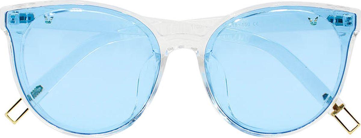 Очки солнцезащитные женские Taya, цвет: синий, прозрачный. S-O-0034BM8434-58AEСтильные солнцезащитные очки Taya формы кошачий глаз с зеркальными линзами прекрасно подходят для повседневной носки и отдыха. Очки с высокоэффективным ультрафиолетовым фильтром защитят ваши глаза от ультрафиолета, повреждений и ярких солнечных лучей. Очки Taya – это эффектный аксессуар, который станет изюминкой вашего индивидуального стиля.Категория: 1. Пропускают 43-80% света.