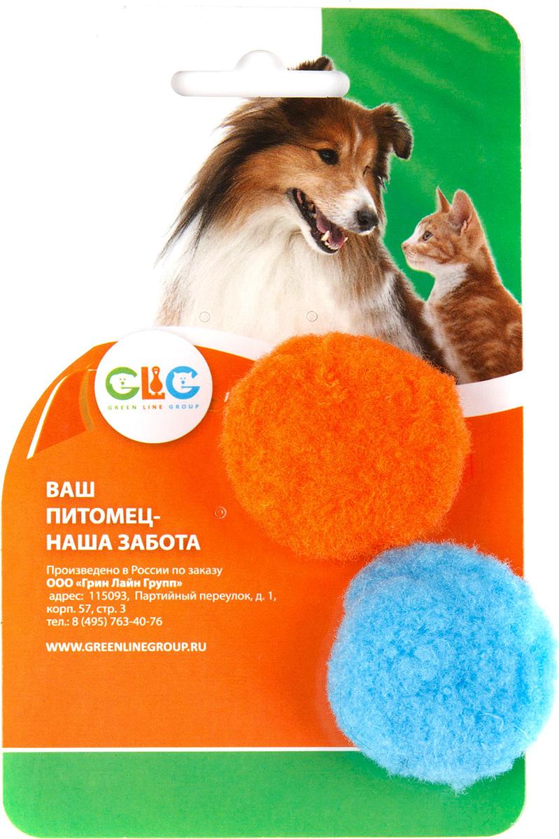 Игрушка для кошек GLG Шарик-помпон, 2 шт0120710Мягкий шарик-помпон будет поддерживать вашу кошку в отличной спортивной форме и не даст ей засидеться.Предназначен для активных игр с кошкой.Диаметр помпона: 4,5 см.В наборе 2 игрушки.