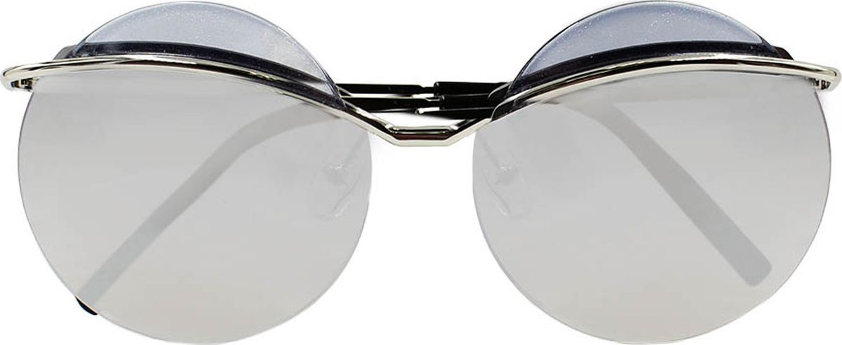 Очки солнцезащитные женские Taya, цвет: черный, серебристый. S-O-0035BM8434-58AEСтильные солнцезащитные круглые очки-тишейды Taya прекрасно подходят для повседневной носки и отдыха. Очки с высокоэффективным ультрафиолетовым фильтром защитят ваши глаза от ультрафиолета, повреждений и ярких солнечных лучей. Очки Taya – это эффектный аксессуар, который станет изюминкой вашего индивидуального стиля.Категория: 2. Пропускают 18-43% света.