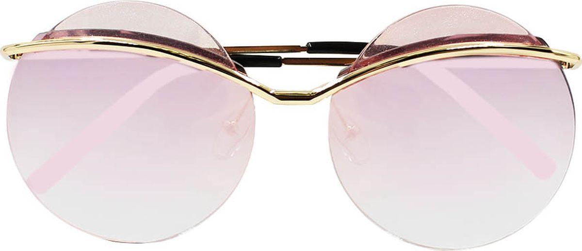 Очки солнцезащитные женские Taya, цвет: золотистый, розовый. S-O-0040INT-06501Круглые (тишейды), ультрафиолетовый фильтр. Габариты предмета: высота линзы 5,8 см; ширина линзы 6,1 см; длина дужки 14,5 см