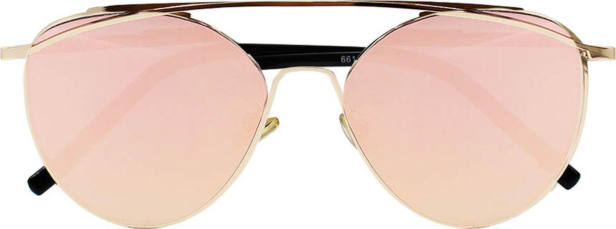 Очки солнцезащитные женские Taya, цвет: черный, золотистый. S-O-0063BM8434-58AEСтильные солнцезащитные очки-авиаторы Taya с зеркальными линзами прекрасно подходят для повседневной носки и отдыха. Очки с высокоэффективным ультрафиолетовым фильтром защитят ваши глаза от ультрафиолета, повреждений и ярких солнечных лучей. Очки Taya – это эффектный аксессуар, который станет изюминкой вашего индивидуального стиля.Категория: 2. Пропускают 18-43% света.