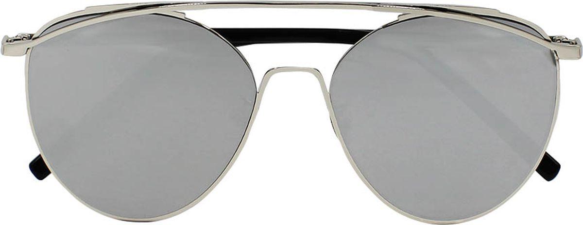 Очки солнцезащитные женские Taya, цвет: черный, серебристый. S-O-0064BM8434-58AEСтильные солнцезащитные очки-авиаторы Taya с зеркальными линзами прекрасно подходят для повседневной носки и отдыха. Очки с высокоэффективным ультрафиолетовым фильтром защитят ваши глаза от ультрафиолета, повреждений и ярких солнечных лучей. Очки Taya – это эффектный аксессуар, который станет изюминкой вашего индивидуального стиля.Категория: 2. Пропускают 18-43% света.
