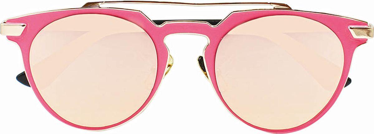 Очки солнцезащитные женские Taya, цвет: черный, розовый. S-O-0096BM8434-58AEСтильные солнцезащитные очки-броулайнеры Taya прекрасно подходят для повседневной носки и отдыха. Очки с высокоэффективным ультрафиолетовым фильтром защитят ваши глаза от ультрафиолета, повреждений и ярких солнечных лучей. Очки Taya – это эффектный аксессуар, который станет изюминкой вашего индивидуального стиля.Категория: 2. Пропускают 18-43% света.