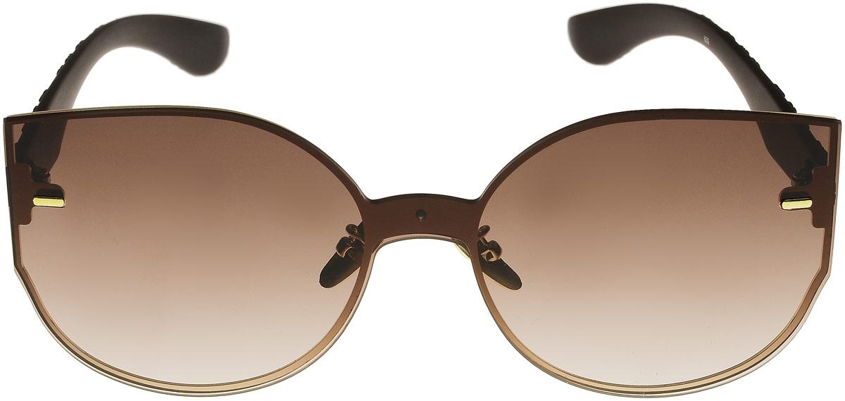 Очки солнцезащитные женские Vitta pelle, цвет: коричневый. 1301-2017-839BM8434-58AEСтепень защиты от ультрафиолетовых лучей - 400UV.