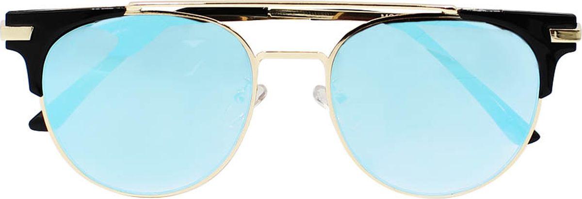 Очки солнцезащитные женские Taya, цвет: синий. S-O-0112BM8434-58AEСтильные солнцезащитные очки-броулайнеры Taya с зеркальными линзами прекрасно подходят для повседневной носки и отдыха. Очки с высокоэффективным ультрафиолетовым фильтром защитят ваши глаза от ультрафиолета, повреждений и ярких солнечных лучей. Очки Taya – это эффектный аксессуар, который станет изюминкой вашего индивидуального стиля.Категория: 2. Пропускают 18-43% света.