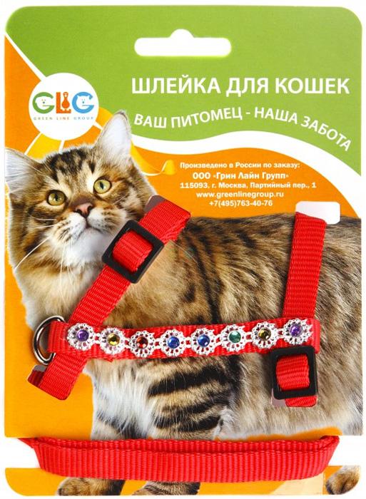 Комплект для кошек GLG Восьмерка: шлейка, поводок, с украшениями, цвет: красный, 2 предмета0120710Комплект для кошек-(шлейка+поводок) с украшениями- нейлон, размер-обхват шеи- максимально 32 см, обхват груди максимально 54см, ширина шлейки10х1200см-длина поводка,УВАЖАЕМЫЕ КЛИЕНТЫ!Обращаем ваше внимание на возможные изменения дизайна украшений. Поставка осуществляется в зависимости от наличия на складе.