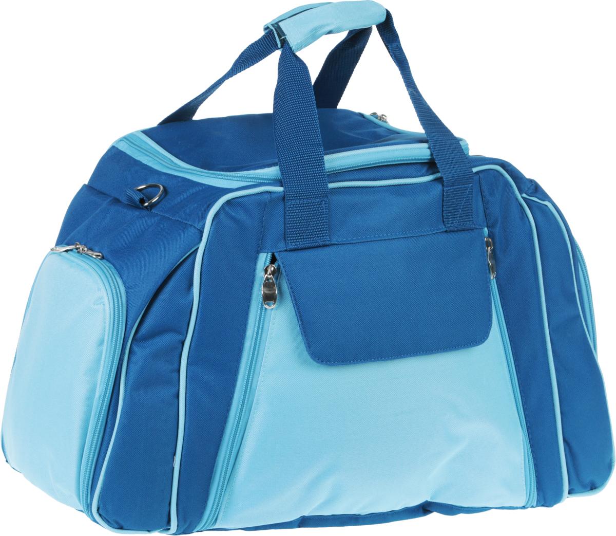 Набор для пикника Green Glade, цвет: голубой, 46 предметов. T3655 тележка со складной ручкой dewalt tstak 54 6 см х 59 см х 104 3 см
