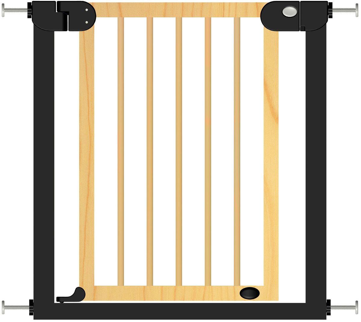 Baby Safe Барьер-калитка цвет черный 75-85 см -  Блокирующие и защитные устройства