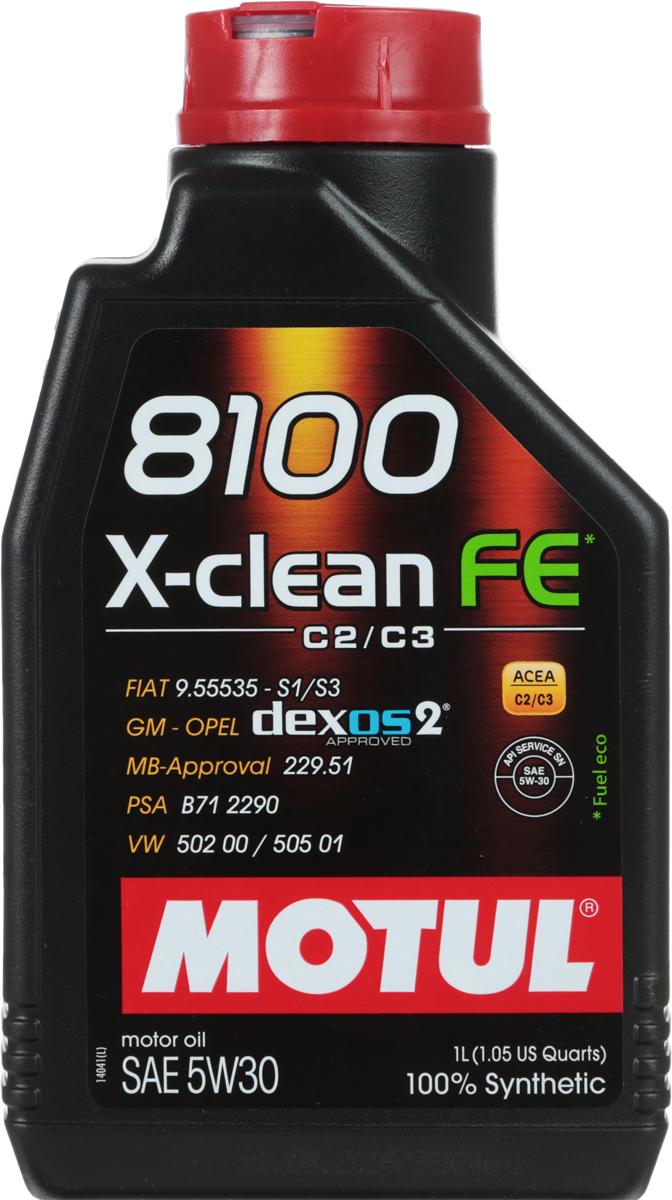 Масло моторное Motul 8100 X-Clean, синтетическое, 5W-30, 1 л10503100% синтетическое моторное масло со сниженным содержанием сульфатной золы (?0,8%), фосфора (0.07%-0.09%), серы (?0.3%) - Mid SAPS. Специально разработано для обеспечения высоких защитных свойств и топливной экономичности. Применяется для последнего поколения бензиновых и дизельных двигателей, отвечающих требованиям норм Евро IV и Евро V, которые оснащаются каталитическим нейтрализатором или сажевым фильтром (DPF). Соответствует требованиям PSA B71 2290 и GM-OPEL dexos2. ACEA Стандарты: ACEA C2 / C3API Стандарты: API SERVICES SN / CFОдобрения: GM-OPEL dexos2; MB-Approval 229.51; PSA B71 2290; VW 502 00 / 505 01; FIAT 9.55535-S1 / S3