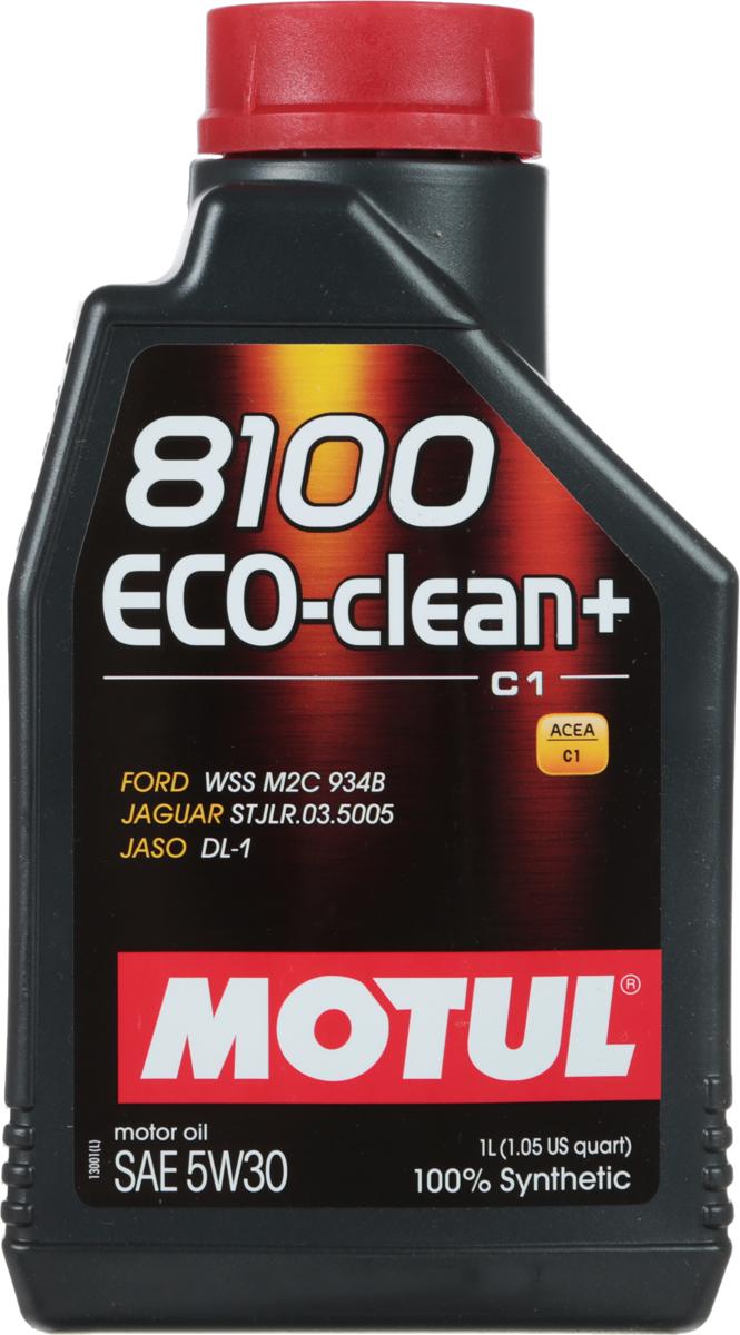 Масло моторное Motul 8100 Eco-Clean Plus, синтетическое, 5W-30, 1 лS03301004Моторное масло для бензиновых и дизельных двигателей стандарта Евро IV и Евро V. 100% синтетическое. Энергосберегающее моторное масло.Специально разработано для автомобилей последнего поколения, оснащенных бензиновыми двигателями и дизельными двигателями с непосредственным впрыском, отвечающих требованиям стандартов Евро IV и Евро V и требующих использования в них масла стандарта ACEA C1: масла с низкой высокотемпературной вязкостью Low HTHS (Совместимо с каталитическими конверторами и сажевыми фильтрами.Некоторые двигатели не предназначены для использования в них данного типа масел, поэтому перед использованием этого продукта необходимо ознакомиться с руководством по эксплуатации автомобиля.ACEA Стандарты: ACEA C1JASO Стандарты: JASO DL-1Одобрения: FORD WSS M2C 934-B JAGUAR STJLR.03.5005