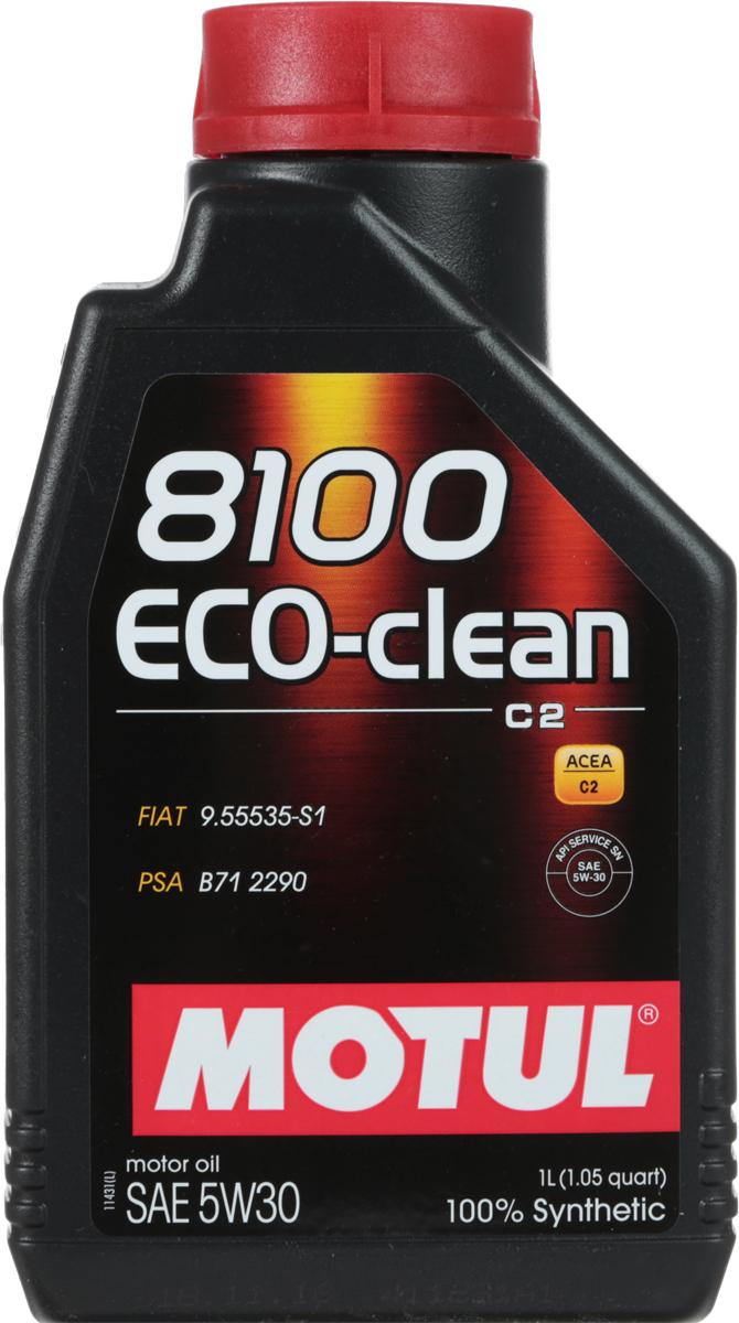 Масло моторное Motul 8100 Eco-Clean, синтетическое, 5W-30, 1 л