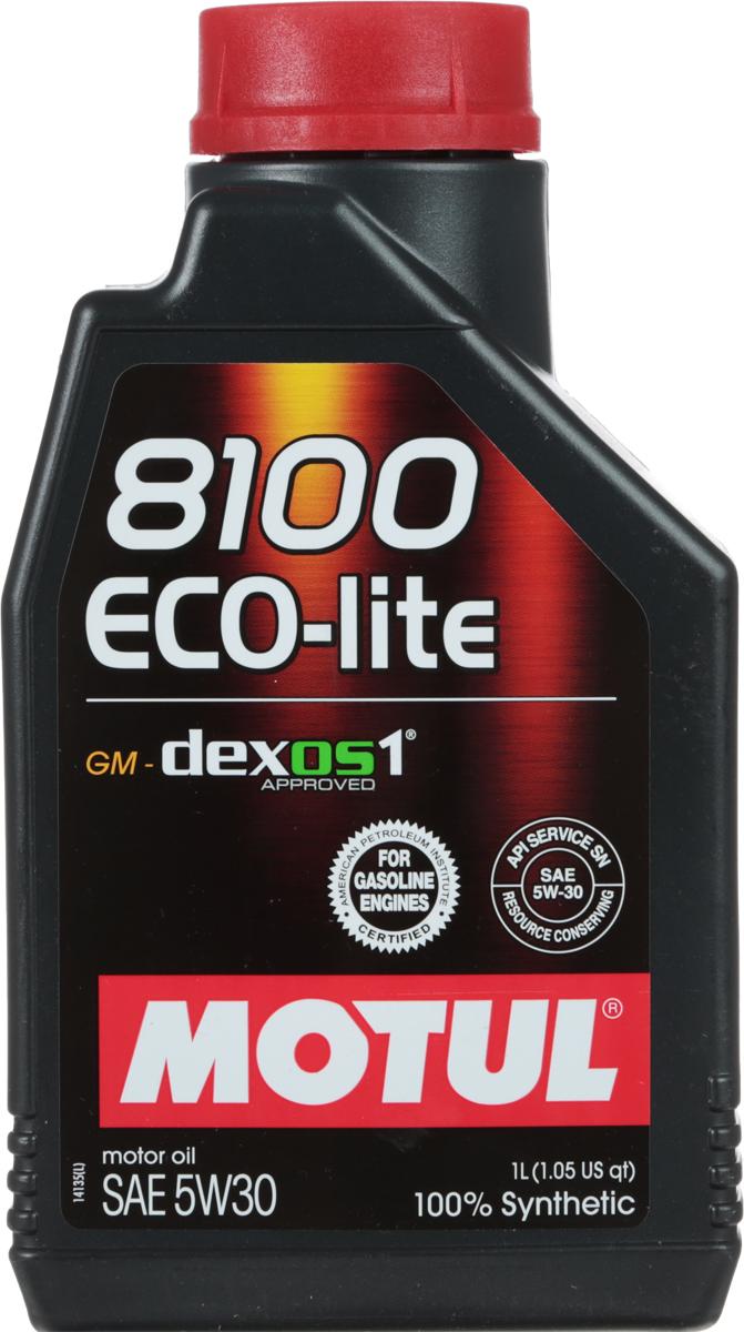 Масло моторное Motul 8100 Eco-Lite, синтетическое, 5W-30, 1 л107250100% синтетическое энергосберегающее моторное масло для современных бензиновых двигателей Honda, Subaru и Toyota, а так же других азиатских производителей, требующих масло класса вязкости 30. API Стандарты: API SERVICES SN; ILSAC GF-5Одобрения: GM-dexos1