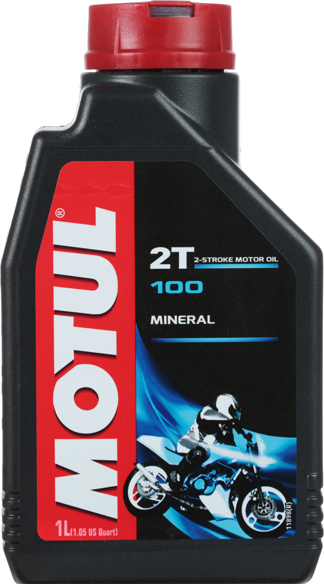 Масло моторное Motul 100 2T, синтетическое, 1 л787502Моторное масло для 2-х тактных мотоциклов и мопедов. Применяется в предварительно подготовленной смеси или системах автоматической подачи масла в топливо. Смешивается со всеми видами бензина. Совместимо с системами нейтрализации отработавших газов.