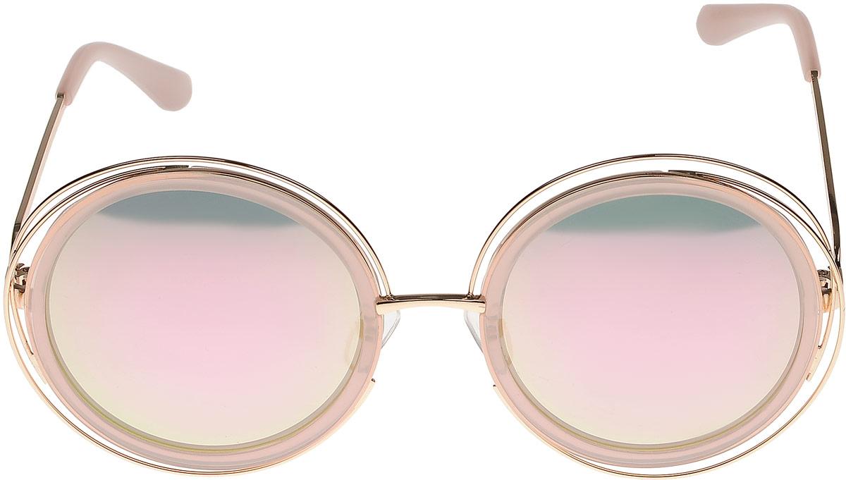 Очки солнцезащитные женские Vitta pelle, цвет: золотистый, розовый. 1301-2017-829BM8434-58AEСтепень защиты от ультрафиолетовых лучей - 400UV.