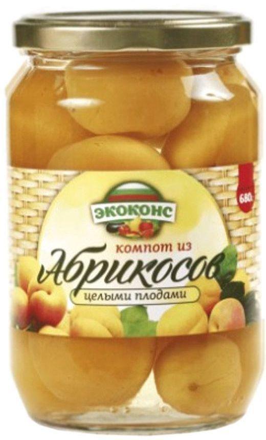 Экоконс компот из абрикосов с целыми плодами, 720 мл0120710Яркие оранжевые плоды, похожие на маленькое солнце, очень полезны для здоровья. Высокое содержание калия в плодах абрикоса способствует улучшению сердечной функции, при регулярном его употреблении, а магний помогает улучшить память.