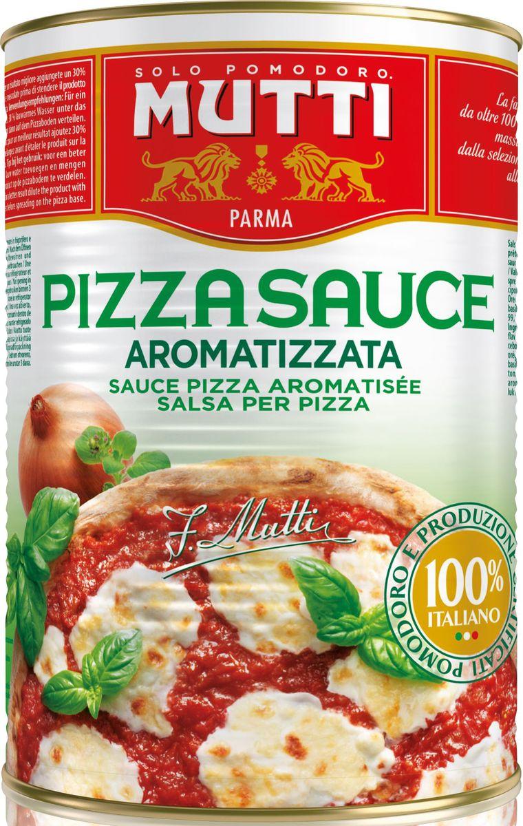 Mutti томатный соус для пиццы ароматизированный, 400 г2452Соус для пиццы Mutti получают из целых зрелых томатов, переработанных к кратчайшие сроки без добавления дополнительных ингредиентов, что гарантирует соблюдение всех гигиенических норм, существующих в сфере общественного питания. Соус подвергается естественной фильтрации, поэтому допустимо наличие томатных семечек. Продукт состоит из двух компонентов – томатное пюре и соль, что делает его универсальным и позволяет использовать соус не только для приготовлении пиццы. Сочетание соуса Mutti c дополнительными ингредиентами, такими как лук, базилик, орегано, шафран придаст блюду неповторимый вкус и оригинальность. Соус для пиццы Mutti отличается великолепным красным насыщенным цветом и ароматом спелых помидоров, что позволяет использовать продукт в приготовлении супов, артишоков, блюд из красного и белого мяса, рыбы –скумбрии, сардин.