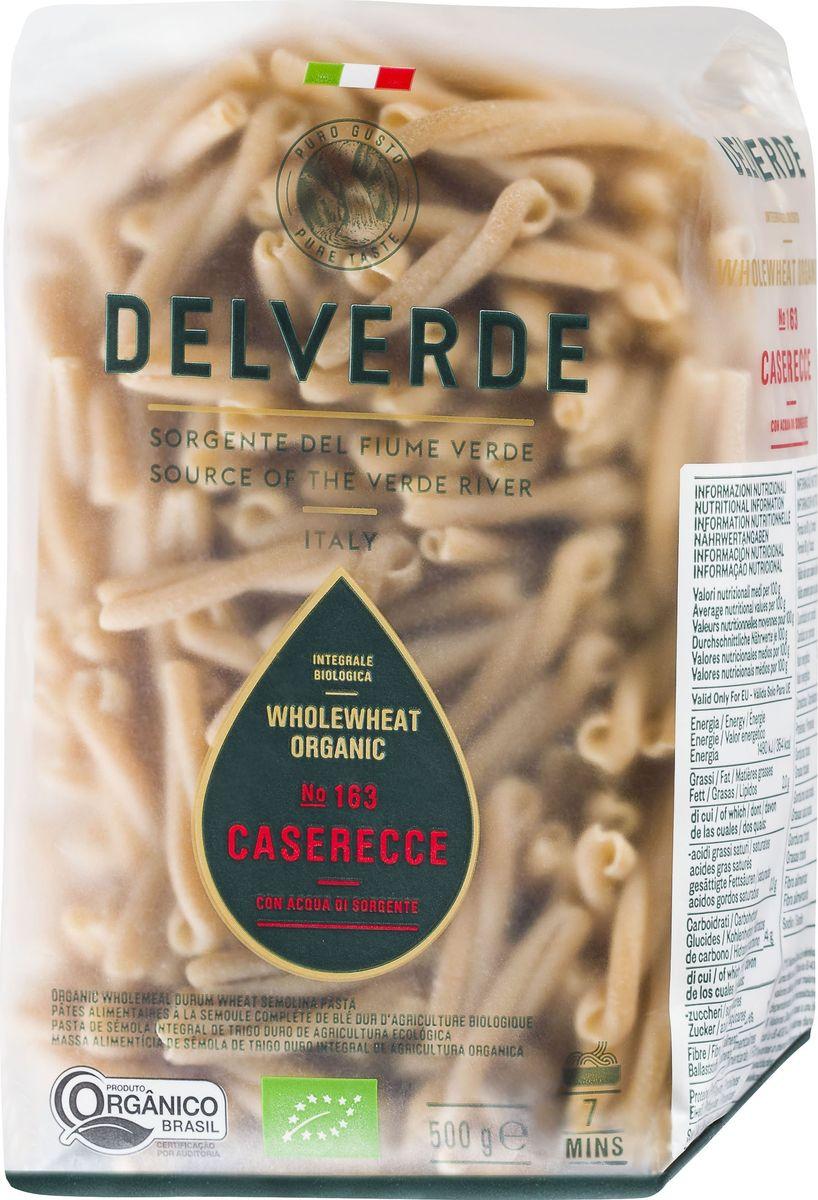 Delverde № 163 паста Казаречче Биолоджика с отрубями, 500 г0120710CASARECCE BIO INTEGRALE №163 – типичная домашняя паста региона Апулия. Казаречче в переводе с итальянского означает паста домашнего приготовления. Каждая штучка - две обнимающиеся трубочки. Паста казаречче Delverde изготовлена из экологически чистой пшеничной муки грубого помола с отрубями, отличается особенно нежной текстурой и высокой питательной ценностью. Идеальна в сочетании с густым мясным соусом, морепродуктами, с соусами на томатной основе. Варить в кипящей подсоленной воде 7 минут.Компания Delverde Industrie Alimentari S.p.a начала свою историю в середине XX века в Фаре, доведя до совершенства искусство традиционного производство пасты. Традиция изготовления пасты в историческом поселении Фара Сан Мартино известна по всему миру с XVII века: именно здесь производители впервые научились искусству смешивать зерна пшеницы с чистейшей водой реки Верде. Фара Сан Мартино до сих пор славится как одна из мировых столиц пасты. С самого начала миссией компании было производить и предлагать миру высококачественные продукты из высококачественных ингредиентов. Компания Delverde до сих пор работает в соответствии с наилучшими итальянскими гастрономическими и промышленными традициями. Для приготовления пасты Delverde используются только отборные, отлично сочетающиеся друг с другом ингредиенты: чистейшая вода из реки Верде и зерна самой качественной твердой пшеницы.