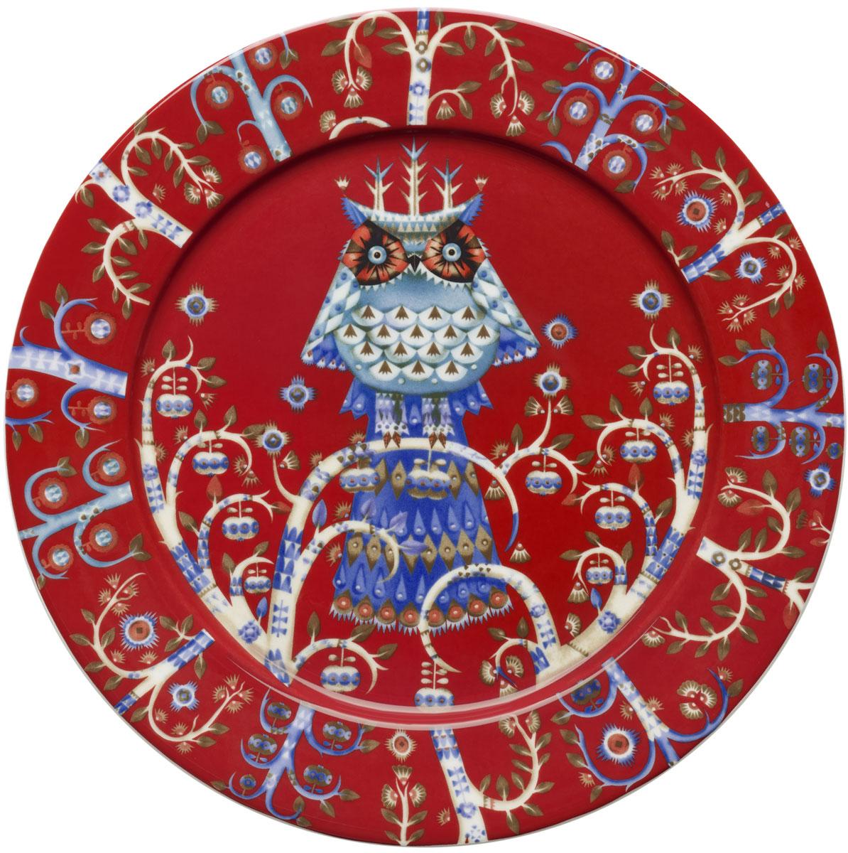 Тарелка Iittala Taika, цвет: красный, диаметр 27 см1013907