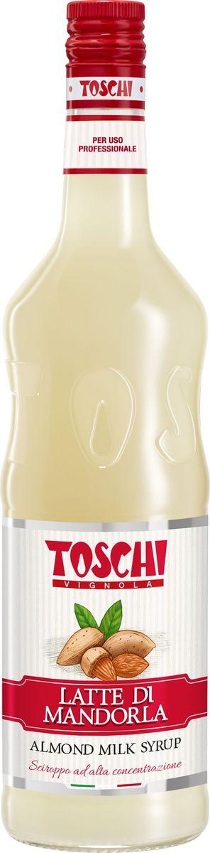 Toschi Миндальное молоко сироп, 1 л0120710Сироп Toschi с миндальным молоком обладает изысканным ароматом и вкусом миндаля. Великолепный ингредиент для приготовления коктейлей, кофейных напитков и горячего шоколада. Идеален в качестве дополнения к десертам и выпечке.О производителе: Компания Тоски Виньола основана в 1945 году как поставщик продуктов питания. Деятельность компании началась с производства фруктов в ликере, далее ассортимент начал включать сиропы, ликеры, вишни в сиропе Amarena, ингредиенты для мороженого и кондитерских изделий, бальзамический уксус и многое другое.За 70 лет развития компания Тоски Виньола значительно расширила ассортимент выпускаемых продуктов. Благодаря высочайшему качеству и использованию натуральных ингредиентов продукция компании Тоски Виньола известна во всем мире. В 2006 году вся продукция Тоски Виньола получила сертификат IFS (Международный пищевой стандарт). Сегодня Тоски Виньола является семейной компанией, ей управляют Джорджио Монторси и Массимо Тоски, которые бережно хранят секреты семейного производства.
