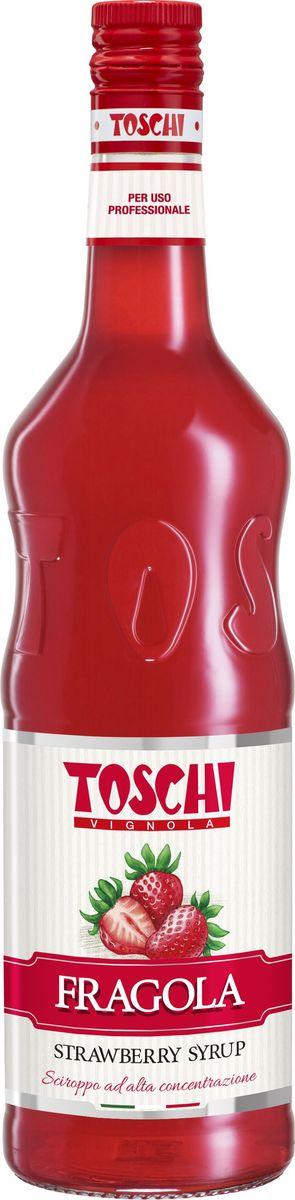 Toschi клубника 35% сироп, 1 л0120710Клубничный сироп Toschi отличается ярким вкусом и ароматом свежей клубники. Великолепен для приготовления лимонадов и коктейлей. Идеален в сочетании с кондитерскими изделиями и мороженым. О производителе: Компания Тоски Виньола основана в 1945 году как поставщик продуктов питания. Деятельность компании началась с производства фруктов в ликере, далее ассортимент начал включать сиропы, ликеры, вишни в сиропе Amarena, ингредиенты для мороженого и кондитерских изделий, бальзамический уксус и многое другое.За 70 лет развития компания Тоски Виньола значительно расширила ассортимент выпускаемых продуктов. Благодаря высочайшему качеству и использованию натуральных ингредиентов продукция компании Тоски Виньола известна во всем мире. В 2006 году вся продукция Тоски Виньола получила сертификат IFS (Международный пищевой стандарт). Сегодня Тоски Виньола является семейной компанией, ей управляют Джорджио Монторси и Массимо Тоски, которые бережно хранят секреты семейного производства.