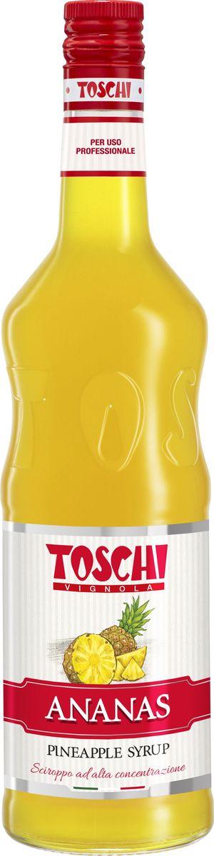Toschi Ананас сироп, 1 лМС-00005631Сироп Ананас Toschi отличается ярким ароматом и экзотическим вкусом. Великолепен для приготовления коктейлей, молочных шейков, компотов,лимонадов, холодного чая, тортов, пирожных, соусов и фруктовых салатов. О производителе: Компания Тоски Виньола основана в 1945 году как поставщик продуктов питания. Деятельность компании началась с производства фруктов в ликере, далее ассортимент начал включать сиропы, ликеры, вишни в сиропе Amarena, ингредиенты для мороженого и кондитерских изделий, бальзамический уксус и многое другое. За 70 лет развития компания Тоски Виньола значительно расширила ассортимент выпускаемых продуктов. Благодаря высочайшему качеству и использованию натуральных ингредиентов продукция компании Тоски Виньола известна во всем мире. В 2006 году вся продукция Тоски Виньола получила сертификат IFS (Международный пищевой стандарт). Сегодня Тоски Виньола является семейной компанией, ей управляют Джорджио Монторси и Массимо Тоски, которые бережно хранят секреты семейного производства.