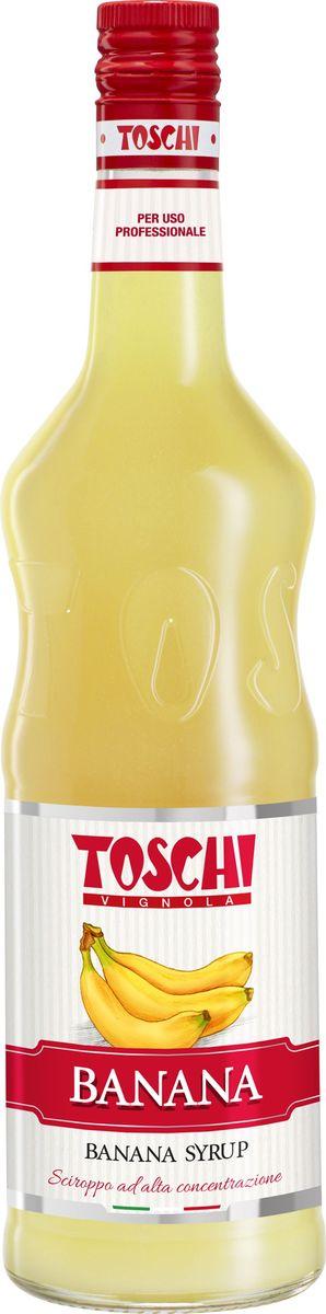 Toschi Банан сироп, 1 л0120710Сироп Банан Toschi отличается вкусом и ароматом спелого банана. Великолепен для приготовления коктейлей, какао, кофе и какао, лимонадов, для ароматизации кондитерских изделий. О производителе: Компания Тоски Виньола основана в 1945 году как поставщик продуктов питания.Деятельность компании началась с производства фруктов в ликере, далее ассортимент начал включать сиропы, ликеры, вишни в сиропе Amarena, ингредиенты для мороженого и кондитерских изделий, бальзамический уксус и многое другое. За 70 лет развития компания Тоски Виньола значительно расширила ассортимент выпускаемых продуктов. Благодаря высочайшему качеству и использованию натуральных ингредиентов продукция компании Тоски Виньола известна во всем мире. В 2006 году вся продукция Тоски Виньола получила сертификат IFS (Международный пищевой стандарт). Сегодня Тоски Виньола является семейной компанией, ей управляют Джорджио Монторси и Массимо Тоски, которые бережно хранят секреты семейного производства.