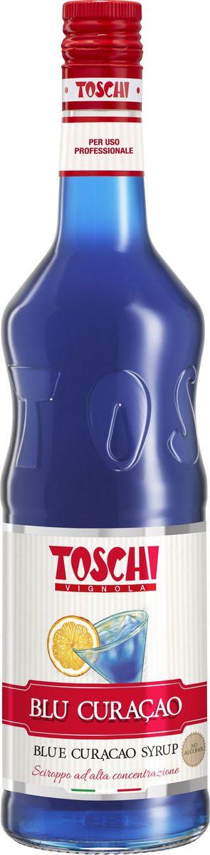 Toschi Блю Кюрасао сироп, 1 л0120710Сироп Блю Кюрасао Toschi отличается ярким апельсиновым ароматом и горьковатым вкусом с тонами гвоздики. Идеален для приготовления слоистых коктейлей. О производителе: Компания Тоски Виньола основана в 1945 году как поставщик продуктов питания.Деятельность компании началась с производства фруктов в ликере, далее ассортимент начал включать сиропы, ликеры, вишни в сиропе Amarena, ингредиенты для мороженого и кондитерских изделий, бальзамический уксус и многое другое. За 70 лет развития компания Тоски Виньола значительно расширила ассортимент выпускаемых продуктов. Благодаря высочайшему качеству и использованию натуральных ингредиентов продукция компании Тоски Виньола известна во всем мире. В 2006 году вся продукция Тоски Виньола получила сертификат IFS (Международный пищевой стандарт). Сегодня Тоски Виньола является семейной компанией, ей управляют Джорджио Монторси и Массимо Тоски, которые бережно хранят секреты семейного производства.