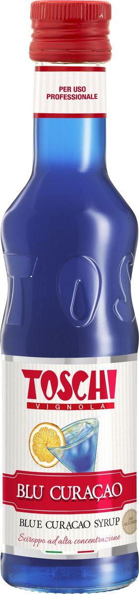 Toschi Блю Кюрасао сироп, 0,25 л0120710Сироп Блю Кюрасао Toschi отличается ярким апельсиновым ароматом и горьковатым вкусом с тонами гвоздики. Идеален для приготовления слоистых коктейлей.О производителе: Компания Тоски Виньола основана в 1945 году как поставщик продуктов питания.Деятельность компании началась с производства фруктов в ликере, далее ассортимент начал включать сиропы, ликеры, вишни в сиропе Amarena, ингредиенты для мороженого и кондитерских изделий, бальзамический уксус и многое другое. За 70 лет развития компания Тоски Виньола значительно расширила ассортимент выпускаемых продуктов. Благодаря высочайшему качеству и использованию натуральных ингредиентов продукция компании Тоски Виньола известна во всем мире. В 2006 году вся продукция Тоски Виньола получила сертификат IFS (Международный пищевой стандарт). Сегодня Тоски Виньола является семейной компанией, ей управляют Джорджио Монторси и Массимо Тоски, которые бережно хранят секреты семейного производства.