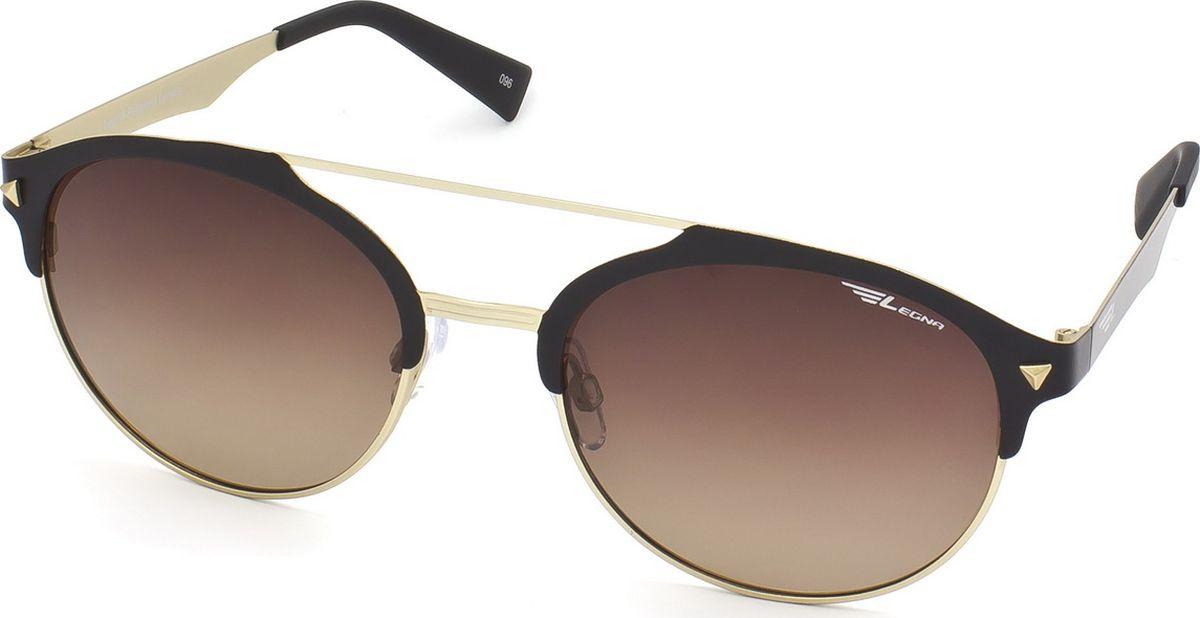 Очки поляризационные Legna, цвет: коричневый, золотой. S4700BBM8434-58AEСолнцезащитные поляризационные очки-броулайнеры Legna в стильной матовой оправе прекрасно подходят для повседневной носки, отдыха и для использования за рулем. Созданные с использованием последних достижений оптических технологий, они защитят ваши глаза от ультрафиолета, повреждений и ярких солнечных бликов. Поляризационные линзы высокого качества задерживают раздражающие блики, что гарантирует полный зрительный комфорт и, как результат, повышенную безопасность во время движения.