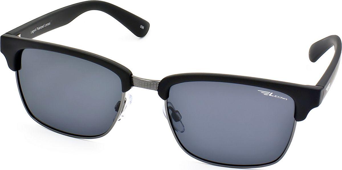 Очки поляризационные Legna, цвет: серый, черный. S4701ABM8434-58AEСолнцезащитные поляризационные очки-броулайнеры Legna в стильной матовой оправе прекрасно подходят для повседневной носки, отдыха и для использования за рулем. Созданные с использованием последних достижений оптических технологий, они защитят ваши глаза от ультрафиолета, повреждений и ярких солнечных бликов. Поляризационные линзы высокого качества задерживают раздражающие блики, что гарантирует полный зрительный комфорт и, как результат, повышенную безопасность во время движения.