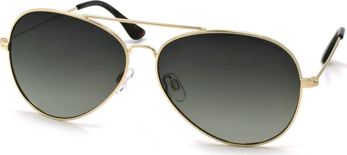 Очки поляризационные Legna, цвет: зеленый, золотой. S4704FBM8434-58AEСтильные солнцезащитные поляризационные очки-авиаторы Legna с зеркальными линзами прекрасно подходят для повседневной носки, отдыха и для использования за рулем. Созданные с использованием последних достижений оптических технологий, они защитят ваши глаза от ультрафиолета, повреждений и ярких солнечных бликов. Поляризационные линзы высокого качества задерживают раздражающие блики, что гарантирует полный зрительный комфорт и, как результат, повышенную безопасность во время движения.