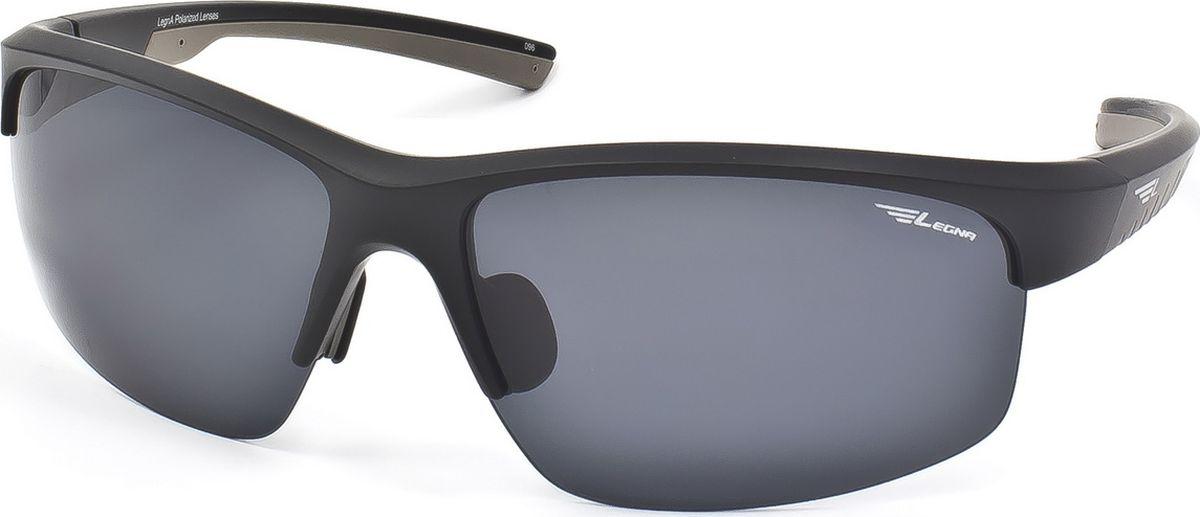 Очки поляризационные Legna, цвет: серый, черный. S7701BBM8434-58AEСтильные солнцезащитные поляризационные очки в спортивном стиле Legna прекрасно подходят для повседневной носки, отдыха и для использования за рулем. Созданные с использованием последних достижений оптических технологий, они защитят ваши глаза от ультрафиолета, повреждений и ярких солнечных бликов. Поляризационные линзы высокого качества задерживают раздражающие блики, что гарантирует полный зрительный комфорт и, как результат, повышенную безопасность во время движения.