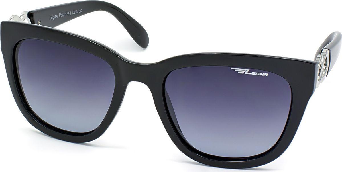 Очки женские поляризационные Legna, цвет: серый, черный. S8713ABM8434-58AEЖенские поляризационные очки-вайфареры Legna прекрасно подходят для повседневной носки, занятий спортом, отдыха и для использования за рулем. Созданные с использованием последних достижений оптических технологий, они защитят ваши глаза от ультрафиолета, повреждений и ярких солнечных бликов. Семислойные поляризационные линзы высокого качества задерживают раздражающие блики, что гарантирует полный зрительный комфорт и, как результат, повышенную безопасность во время движения.Особенности: - Два защитных слоя, обеспечивающие высокую стойкость линз к царапинам и оптимальную долговечность. - Два амортизационных слоя, гарантирующие непревзойденную ударопрочность и физическую защиту глаз. - Два слоя ультрафиолетового фильтра, исключающие проникновение вредоносного излучения.