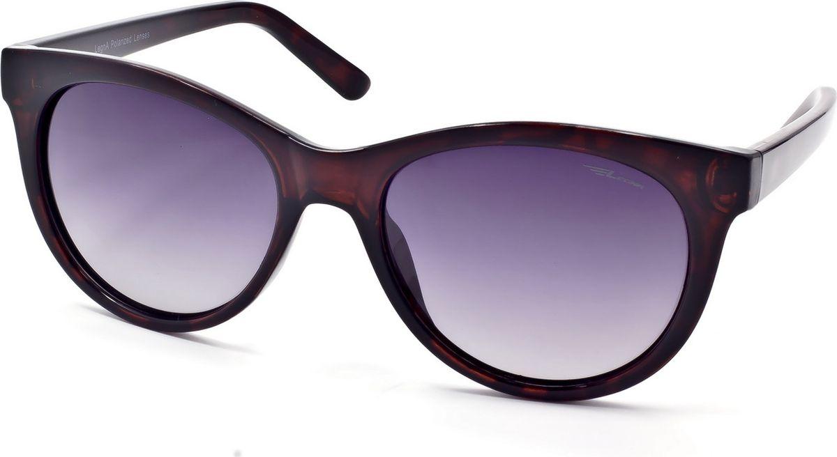 Очки женские поляризационные Legna, цвет: серый, коричневый. S8714BBM8434-58AEЖенские поляризационные очки-клабмастеры Legna прекрасно подходят для повседневной носки, занятий спортом, отдыха и для использования за рулем. Созданные с использованием последних достижений оптических технологий, они защитят ваши глаза от ультрафиолета, повреждений и ярких солнечных бликов. Семислойные поляризационные линзы высокого качества задерживают раздражающие блики, что гарантирует полный зрительный комфорт и, как результат, повышенную безопасность во время движения.Особенности: - Два защитных слоя, обеспечивающие высокую стойкость линз к царапинам и оптимальную долговечность. - Два амортизационных слоя, гарантирующие непревзойденную ударопрочность и физическую защиту глаз. - Два слоя ультрафиолетового фильтра, исключающие проникновение вредоносного излучения.