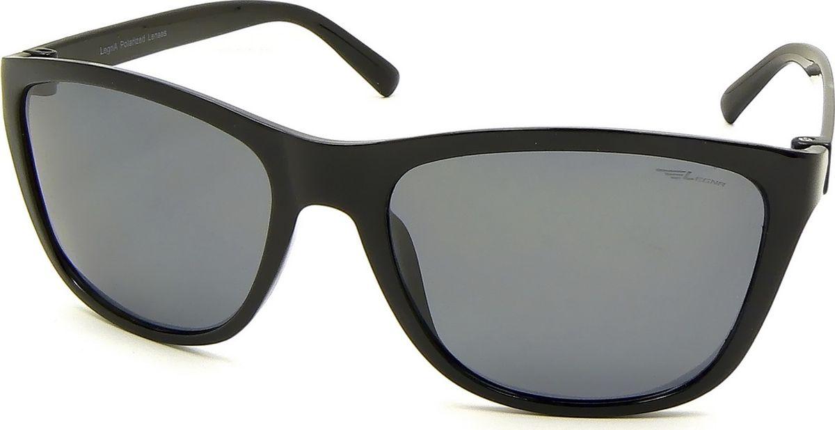 Очки поляризационные Legna, цвет: серый, черный. S8716BBM8434-58AEСолнцезащитные поляризационные очки-вайфареры Legna прекрасно подходят для повседневной носки, занятий спортом, отдыха и для использования за рулем. Созданные с использованием последних достижений оптических технологий, они защитят ваши глаза от ультрафиолета, повреждений и ярких солнечных бликов. Семислойные поляризационные линзы высокого качества задерживают раздражающие блики, что гарантирует полный зрительный комфорт и, как результат, повышенную безопасность во время движения.Особенности: - Два защитных слоя, обеспечивающие высокую стойкость линз к царапинам и оптимальную долговечность. - Два амортизационных слоя, гарантирующие непревзойденную ударопрочность и физическую защиту глаз. - Два слоя ультрафиолетового фильтра, исключающие проникновение вредоносного излучения.