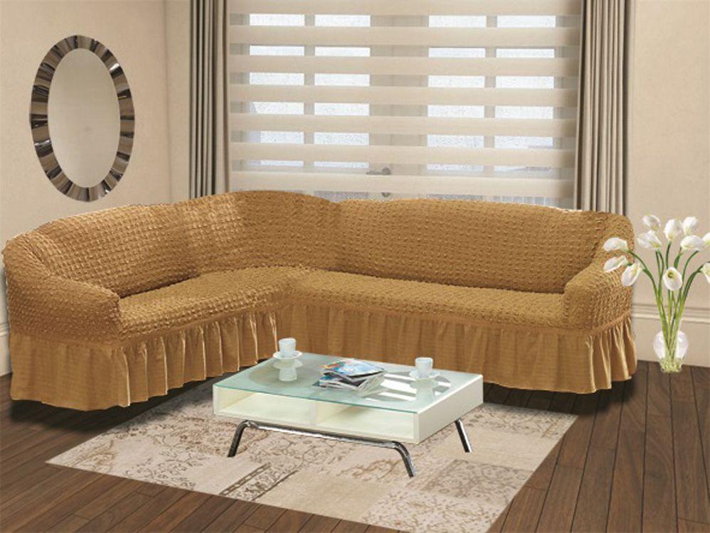 Чехол на угловой диван Karna Bulsan, универсальный. 2640/CHAR003 karna karna чехол на диван угловой цвет коричневый