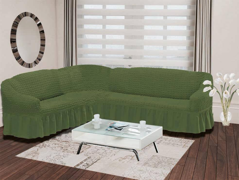 Чехол на угловой диван Karna Bulsan, универсальный. 2640/CHAR004 karna karna чехол на диван угловой цвет коричневый