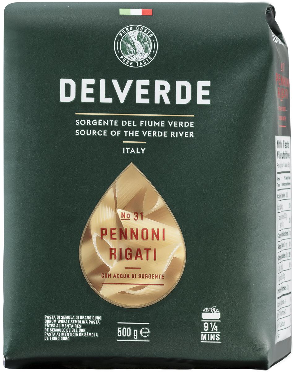 Delverde № 031 паста Пеннони Ригати, 500 г0120710Пеннони Ригати Delverde идеально сочетается с соусом Бешамель и подходит для фарширования. В качестве начинки может быть фарш, фарш в сочетании сыром и зеленью, тушеные овощи.Варить в кипящей подсоленной воде 8 минут.Компания Delverde Industrie Alimentari S.p.a начала свою историю в середине XX века в Фаре, доведя до совершенства искусство традиционного производство пасты. Традиция изготовления пасты в историческом поселении Фара Сан Мартино известна по всему миру с XVII века: именно здесь производители впервые научились искусству смешивать зерна пшеницы с чистейшей водой реки Верде. Фара Сан Мартино до сих пор славится как одна из мировых столиц пасты. С самого начала миссией компании было производить и предлагать миру высококачественные продукты из высококачественных ингредиентов. Компания Delverde до сих пор работает в соответствии с наилучшими итальянскими гастрономическими и промышленными традициями. Для приготовления пасты Delverde используются только отборные, отлично сочетающиеся друг с другом ингредиенты: чистейшая вода из реки Верде и зерна самой качественной твердой пшеницы.