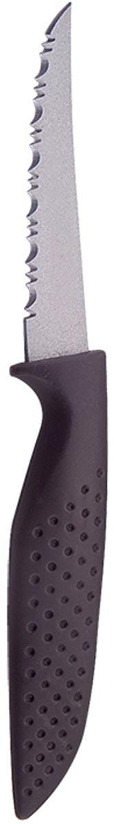Нож для чистки овощей Marta Paring, длина лезвия 8 см54 009312Нож для чистки овощей Marta Paring с коротким лезвием из нержавеющей стали 0,8 мм и титановым покрытием станет незаменимым помощником на вашей кухне. Высококачественная пищевая нержавеющая сталь не имеет запаха и сохраняет вкус и аромат продуктов натуральными, а экологически чистое антибактериальное гипоаллергенное титановое покрытие устойчиво к коррозии, износу и обеспечивает длительное сохранение качества режущей кромки ножа без необходимости его дополнительной заточки.Нож имеет короткое узкое зубчатое острозаточенное лезвие, а также стильное исполнение ручки удобной формы с тиснением для более плотного контакта с ладонью.Качественный нож Marta Utility - это подлинное украшение кухни и уверенность в успехе любого блюда.Можно мыть в посудомоечной машине. Общая длина ножа: 17,2 см.