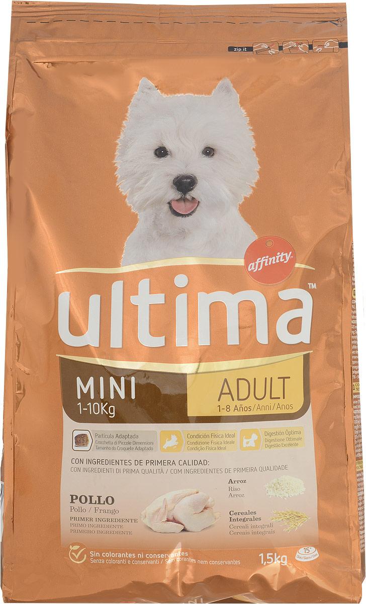 Корм сухой Ultima, для взрослых собак миниатюрных пород с курицей, рисом, злаками, 1,5 кг0120710Сухой корм Ultima для взрослых собак миниатюрных пород с курицей, рисом и цельнозерновыми злаками.Товар сертифицирован.Уважаемые покупатели! Обращаем ваше внимание на возможные изменения в дизайне упаковки. Качественные характеристики товара остаются неизменными. Поставка осуществляется в зависимости от наличия на складе.