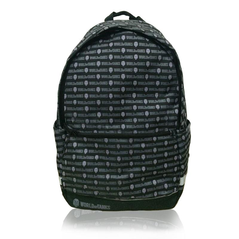 World Of Tanks Рюкзак для мальчика цвет черный WOT-SW-B372523WDМатериал: полиэстер 100%. Размер рюкзака: 44*30*14 см. Основное отделение на молнии, 1 внешний карман, 2 боковых кармана. Внутренний карман для учебников и кармашек для мелких предметов. Усиленная спинка. Светоотражающие элементы. Объем: 18,5 литра