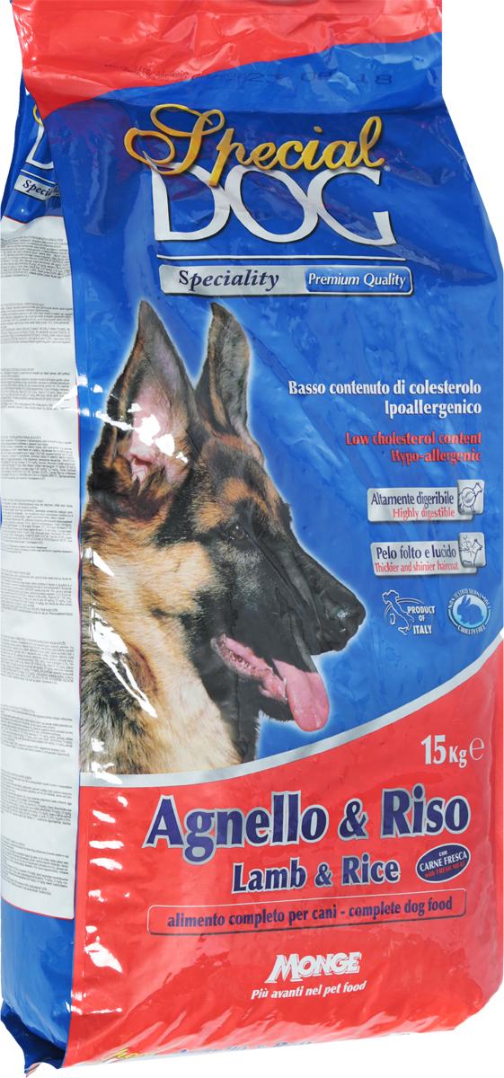 Корм сухой Monge Special Dog для собак с чувствительной кожей и пищеварением, с ягненком и рисом, 15 кг70007658Monge Special Dog - это гипоаллергенное полнорационное питание для взрослых собак всех пород с чувствительной кожей (дерматозис, перхоть, зуд) и пищеварением, а также со светлой шерстью. Содержит качественный полноценный белок, удовлетворяющий потребность собак в энергии. Входящее в состав мясо ягненка богато белком с высокой биологической ценностью. Корм питателен, легко усваивается. Низкое содержание холестерина. В состав входит экструдированный рис - источник легко усваиваемых углеводов, что позволяет предупредить возникновение проблем с пищеварительным трактом собаки. Содержит ФОС (фруктоолигосахариды), регулирующие состояние кишечной микрофлоры собаки. Юкка шидигера уменьшает запах фекалий. Сбалансированные Омега-3 и Омега-6 жирные кислоты необходимы для поддержания здоровья кожи и шерсти.Товар сертифицирован.