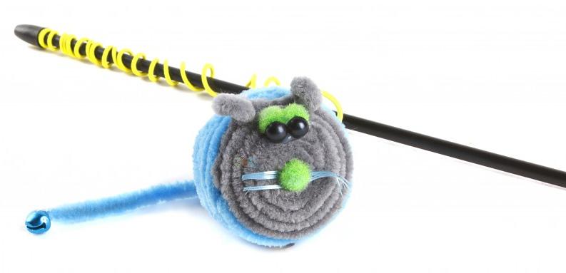 Игрушка-дразнилка для кошек GLG Мышарик, цвет: мультиколор, длина 60 см101246Игрушка для кошек Дразнилка-удочка Мышарик, длина палочки 60 см, материал- палочка пластик, полиакрил