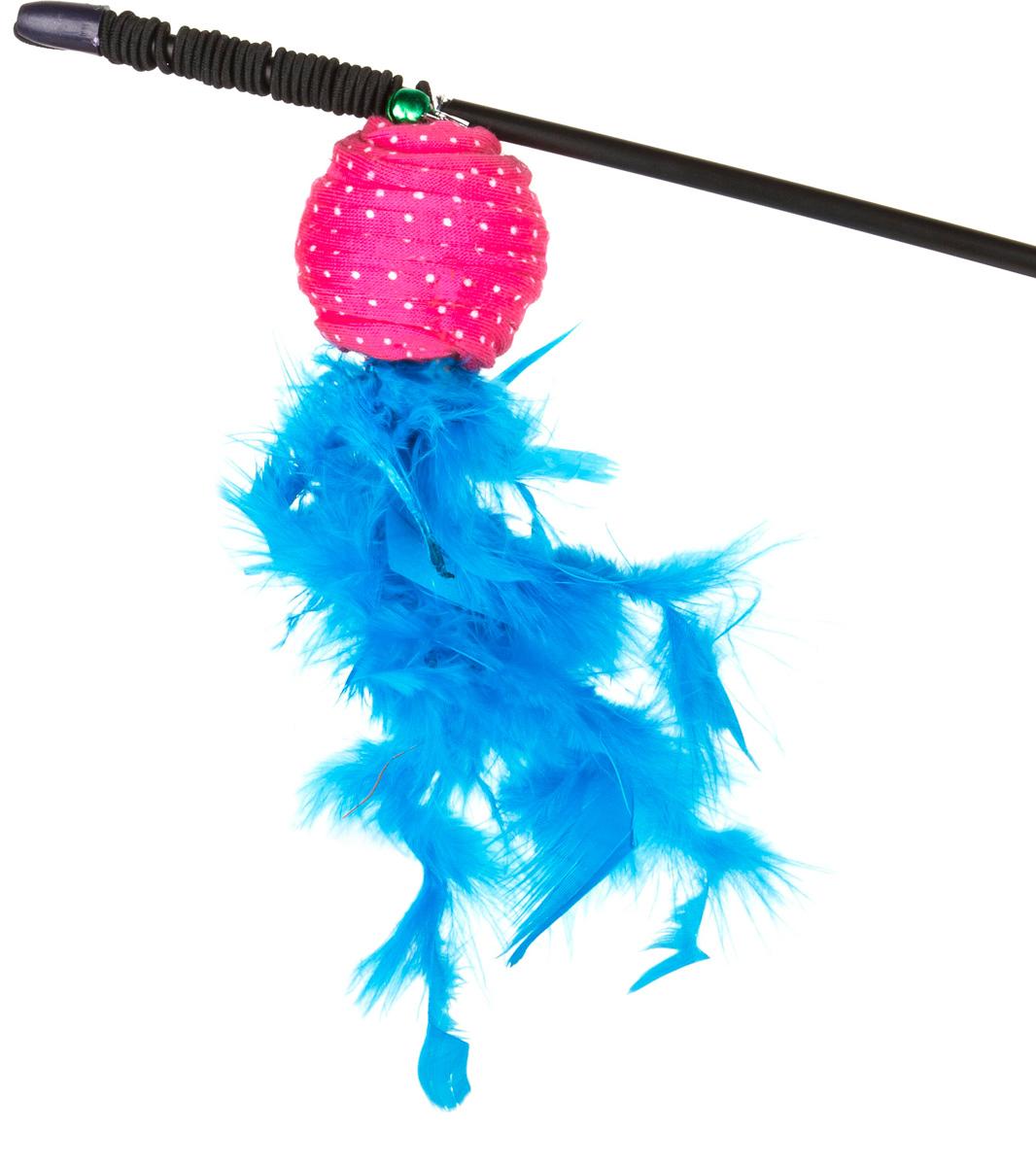 Игрушка-дразнилка для кошек GLG Полосатый шарик с перьями, длина 60 смGLG050Игрушка-дразнилка для кошек GLG Полосатый шарик с перьями представляет собой пластиковую палочку, на конце которой прикреплен шарик с перьями. Игрушка на резинке, хорошо пружинит и отскакивает. Игрушка поможет развить мускулатуру и реакцию кошки, а также удовлетворит её охотничий инстинкт. Способствует балансировке нервной системы, повышению мышечного тонуса, правильному развитию скелета. Рекомендуется для совместных игр хозяина с питомцем.Длина игрушки: 60 см. Уважаемые клиенты!Обращаем ваше внимание на цветовой ассортимент товара. Поставка осуществляется в зависимости от наличия на складе.
