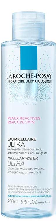 La Roche-Posay Physio Мицеллярная Reactive skin кожа Ultra, 200 млFS-54102Мицеллярная вода Ultra, разработанная Ля Рош Позе, мягко и тщательно очищает чувствительную, склонную к аллергии кожу лица и глаз. Новая архитектура формулы мицеллярной воды позволила соединить силу мицелл и глицерина для достижения ультраэффективной переносимости.Преимущества:Легкое скольжениеНовая текстура равномерно распределяется по поверхности кожи, не вызывая трения и повреждения защитного барьера кожи.Надежное сцеплениеБлагодаря новой формуле средства происходит прочный захват и удержание макияжа и микро-загрязнений.Легкой удалениеИнновационная формула обеспечивает моментальное очищение и удаление макияжа даже с глаз. Не требует смывания водой.